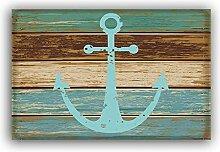 Kinhevao Blaue nautische Anker rustikale alte