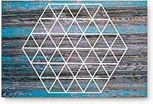 Kinhevao Geometrische Sechseck auf der Retro