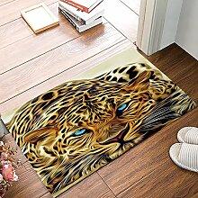 Kinhevao Panther Leopard Blue Eyes Fußmatten
