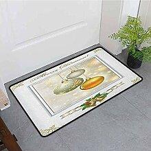 Kinhevao Schlafzimmer Fußmatte, Weihnachten