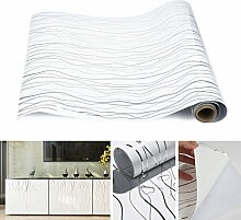 Kinlo 0.61*5M Weiss PVC Möbelfolie Dekofolie Küchenschrank-Aufkleber DIY Selbstklebend Küchenfolie Schrankfolie für Küche Schrank Möbel