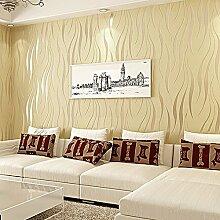 kinlo® 10m * 0.53m Tapete 3D Schaumbeflockung, Vlies modern Wall Sticker Selbstklebend Wandsticker Dekoration für Boden-TV Zimmer Wohnzimmer, Nankin, (50M) EU