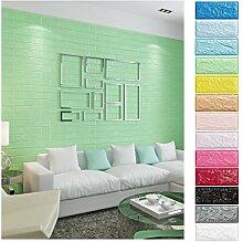 KINLO® 10 Stücke Tapete Pattern 70x77x1cm Grün