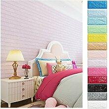 KINLO 10 Stücke Tapete Pattern 70x77x1cm lila