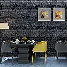 KINLO 10 Stücke Tapete Pattern 70x77x1cm schwarz