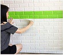 KINLO 10 Stücke Tapete Pattern 70x77x1cm weiß