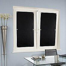 KINLO® 10 Stücker Thermorollo für Verlux 96x93cm(BxL) TOP Qualität Dachfensterrollo Schwarz Sonnenschutz Verdunkelungsrollo für Dachfenster aus 100% Polyesterfasern Dachfensterplissee ohne Bohren mit Krafthaftsaugern