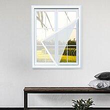 KINLO 150*180cm weiss Anti Moskito Fenster Bildschirm Fliegengitter DIY Selbstklebende Vorhang mit Sticky Klettband 3-5Jahre Garantie Abnehmbar und waschbar