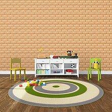 KINLO 25 Stücke Tapete Brick 70x77x1cm helle