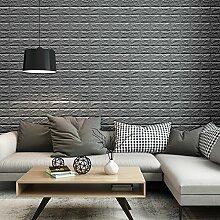 KINLO 25 Stücke Ziegelstein 70x77x1cm grau