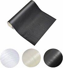 KINLO® 2er 5x0.65M Klebefolie Möbel schwarz Möbelsticker für Schrank aus hochwertigem PVC Aufkleber Wasserdicht die Möbel verschönen Folie für Tisch Küchefolie Natur Motiv Dekofolie ölabweisung antibakteriell 2 Jahren Gatantie
