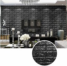 KINLO 5 Stücke Tapete Pattern 70x77x1cm schwarz