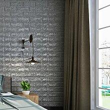 KINLO 50 Stücke Ziegelstein 70x77x1cm grau