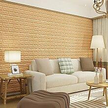 KINLO 5pcs 3D Ziegel Tapete, 77 x 70 cm