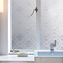 KINLO 90x200cm Selbstklebend Fensterfolie ohne Kleberfolie schneidbar Fensterbilder Sichtschutzfolie Bunt Glasfolie Fensterfolien Blickdicht Sichtschutz Glastür Aufkleber
