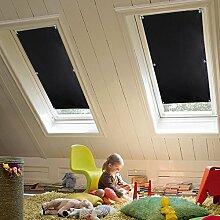 KINLO 96x100 cm Thermo Dachfenster Sonnenschutz Verdunkelungsrollo für Velux Dachfenster aus 100% Polyester mit Krafthaftsaugern und Silber Thermo-Beschichtung