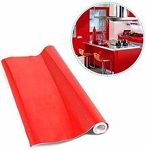 Kinlo Elegant 0.61*5M rot PVC Möbelfolie Küchenschrank-Aufkleber DIY Selbstklebend Küchenfolie Schrankfolie für Küche Schrank Möbel