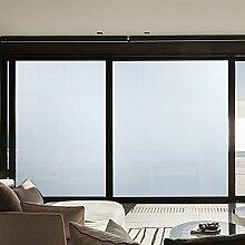 KINLO® Folie Fenster selbstklebend 90x200cm Glasfolie Tür aus hochwertigem PVC Folie Büro Möbelfolie klar Sichtschutzfolie selbstklebend Dekofolie statisch 2 Jahren Qualitätgarantie