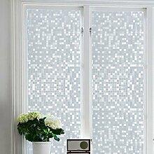 KINLO® Folie Fenster statisch 90x200cm Glasfolie aus hochwertigem PVC für Büro möbelfolie klar Sichtschutzfolie selbstklebend Dekorfolie statisch 2 Jahren Qualitätgarantie