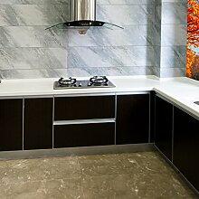 KINLO Folie Küche Schwarz 61x500cm aus