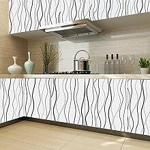 Kinlo Hochwertige weiss Folie Möbelfolie Klebefolie Küchenfolie 0.61 x 5 M PVC für Küche Schrank Möbel als Dekoration