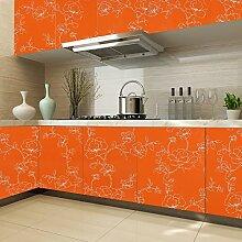 KINLO® Küchenschrank folie Orange Folie Küche 2