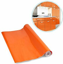 KINLO orange 0.61 x 5 M PVC Selbstklebend Möbelfolie Küchenschrank-Aufkleber Küchenfolie Kein Luftblase , flattert nicht ,schöne Folie für Küche /Schrank /Möbel/ Tische/ Bettkante