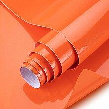 KINLO orange glanz Möbelfolie 5x0.6M 3pcs (9㎡)