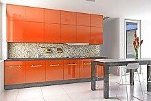 KINLO orange glanz Möbelfolie 5x0.6M 5pcs (15㎡)