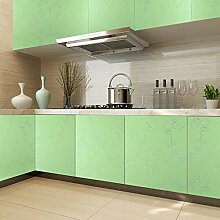KINLO PVC 0.61 x 5M Küchenschränke Klebefolie Wasserfest Selbstklebende Aufkleber Folie aus hochwertigem PVC für Möbel Küche Schrank (Grün)