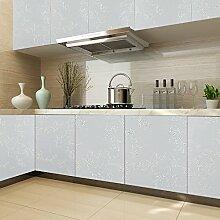 KINLO PVC 0.61 x 5M Küchenschränke Klebefolie Wasserfest Selbstklebende Aufkleber Folie aus hochwertigem PVC für Möbel Küche Schrank (Grau)