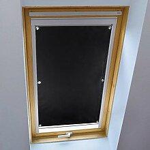 KINLO Rollo Dachfenster Schwarz 38x75cm(BxL) TOP