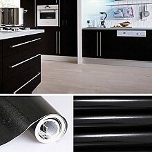 KINLO schwarz glanz Möbelfolie 5x0.61M PVC