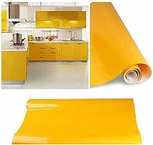 KINLO selbstklebende folie küche Gelb 2 Stk.