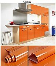 KINLO selbstklebende Folie Küche orange 61x500cm