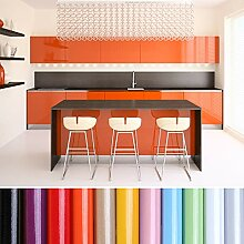 KINLO selbstklebende Folie Küche orange 80x500cm