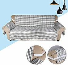 KINLO® sesselauflage 2 Sitzer 167x165cm Sesselbezug Grau-Schwarz Sofaüberwurf 100% Polyster und 100% weiche Baumwolle Füllung sofahusse schütz für Sofa und Sessel 2 Jahren Garantie
