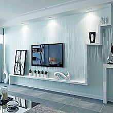 KINLO Streifen Tapete 10M Vliestapete Einfache moderne Tapeten Wandtapete kindertapete für Wohnzimmer, Schlafzimmer und TV Hintergrund (Hell blau)