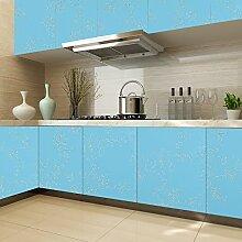 KINLO® Tapete Blau Folie Küche 2 St. 500x61cm