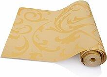 KINLO Tapete gold barock 100x0.53m Vliestapete