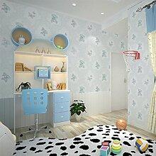 KINLO® Tapete Wand Blau 5Mx0.53M Aus Top Vlies Tapete Selbstklebend Karikatur mustertapete für Kinderzimmer wohnzimmer Wandtatoo 2 Jahren Garantie