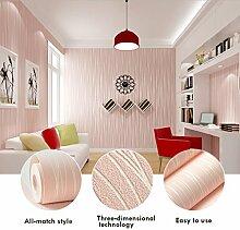 KINLO®Tapeten Vlies Rosa schlafzimmer 3d selbstklebend 5mX53cmx0.092cm (LxBxH) für wohnzimmer Wandaufkleber Kinderzimmer Vliestapeten 3D Effekt Wandtapete aus Top Qualitaet Vlies keine Geruch Schlafzimmer Wandtatoo 10 Jahren Lebensdauer fototapete wallpaper