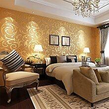 KINLO Vliestapete 3D 50x0.53m Tapete gold barock