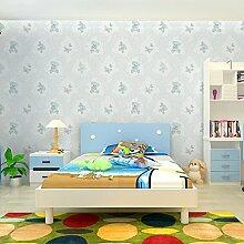 KINLO® Wandtapete Wohnzimmer 3D 50mx0.53m TOP Karikatur Modell tapete selbstklebend tapete vlies helle Blau Für Kinderzimmer Wandtatoo modern wandaufkleber fototapete 2 Jahren Garantie