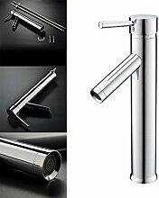 Kinse® Chrom Wasserhahn Armatur Waschtischarmatur Waschbecken Einhandmischer Küche Bad