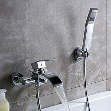 KINSE® Duschset Duscharmatur Kupfer Duschsystem mit Handbrause 1.5m Schläuche