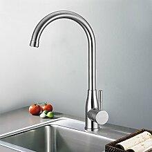 Kinse® Edelstahl 360° Drehbar Wasserhahn Spültischarmatur Einhandmischer Küche Bad Armatur Mischbatterie