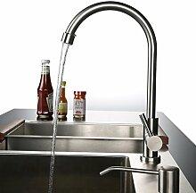 Kinse® Edelstahl Kaltwasser Küchenarmatur Wasserhahn Einhand Spüle Spültisch Armatur