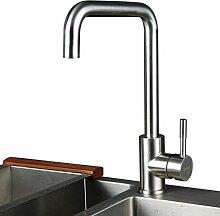 KINSE Mischbatterie Küchenarmatur Wasserhahn Armatur Wasserfall Spültischarmatu 360°Drehbar aus Edelstahl mit ABS Bubbler