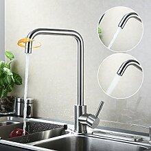 Kinse® Wasserhahn Einhebel Spültischarmatur Einhandmischer Waschbecken Küche Armaturen Edelstahl Typ B